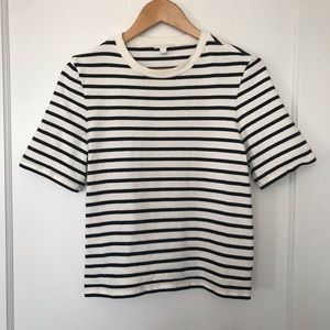 COS stripped boxy cut mid weight shirt sz S